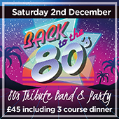 80's tribute night with live band